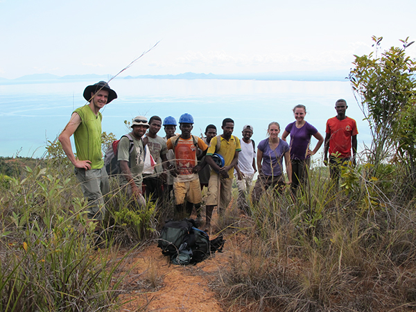 With the local labourers, above Ankatafa. Photo Copyright Kathryn Goodenough