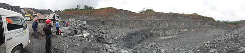 Panoramic view of the quarry. Copyright Anouk Borst