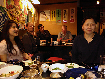 Dinner in Sapporo. Copyright Frances Wall.