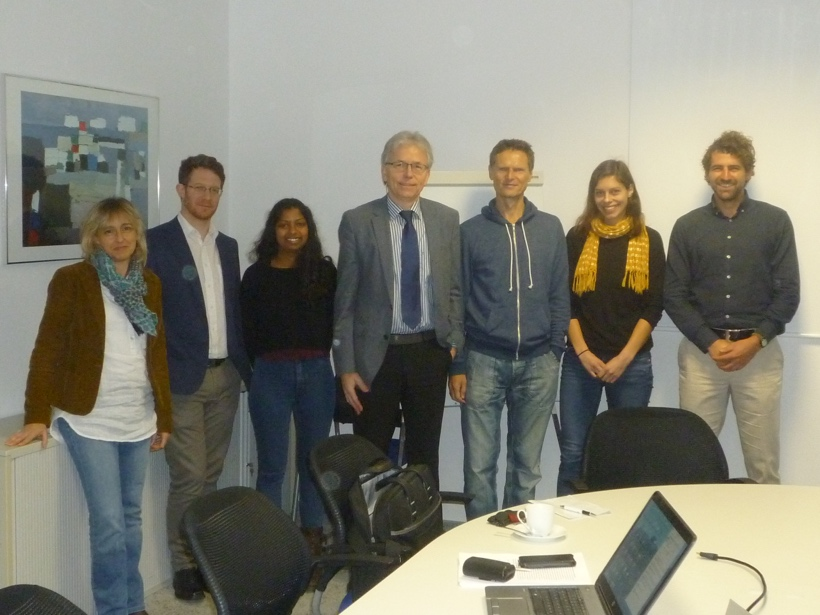 Workshop on the WP 4 PhD project in Dresden, Germany. Representatives from UIT, BGS and the University of Leeds participated. Photo Copyright Barbara Palumbo-Roe.
