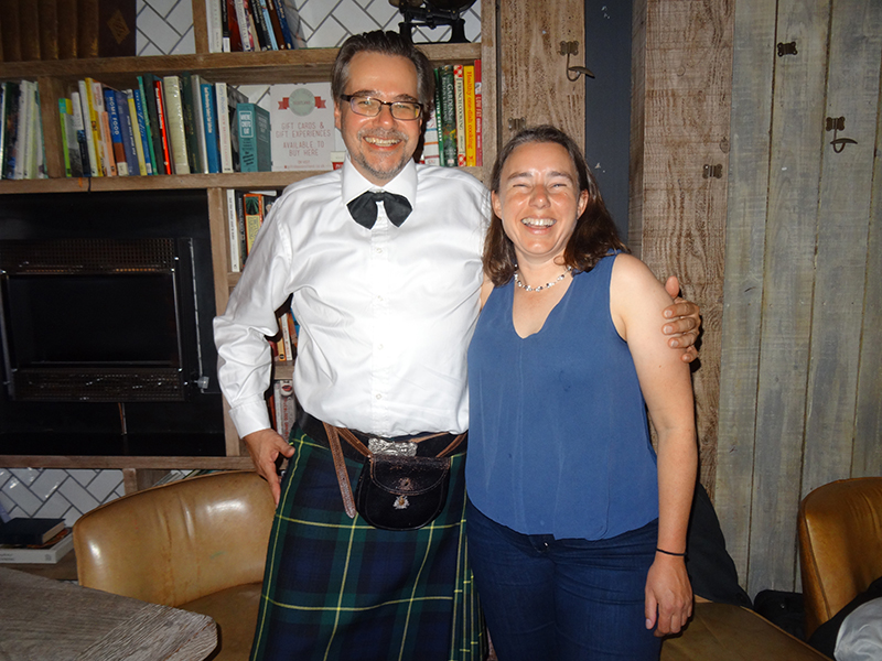 Jochen Petersen and Kathryn Goodenough at the ceilidh. Copyright Frances Wall.