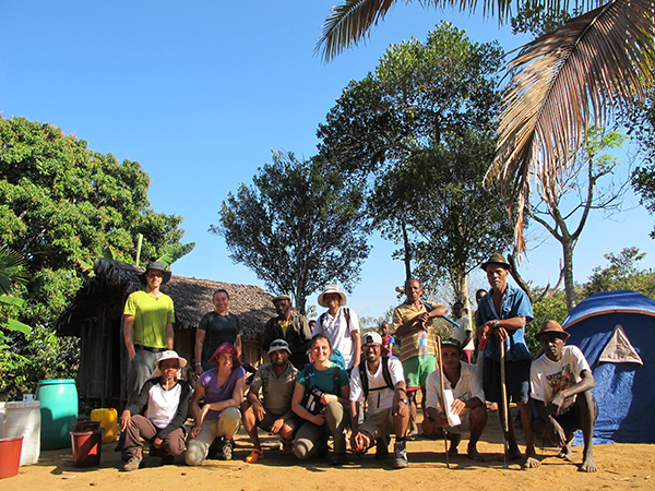 Our whole field team at the Manongarivo camp. Photo Copyright Kathryn Goodenough
