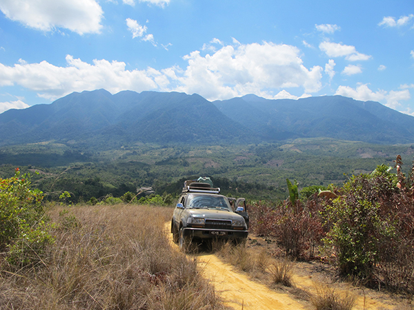 Driving away from Manongarivo Reserve. Photo Copyright Kathryn Goodenough