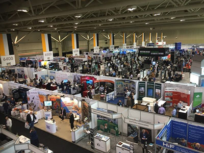 PDAC 2019 overview of one of the smaller halls! PDAC Trade Show North. Photo Copyright Ed Loye.
