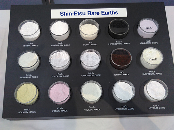 Rare earth powders. Copyright Frances Wall.