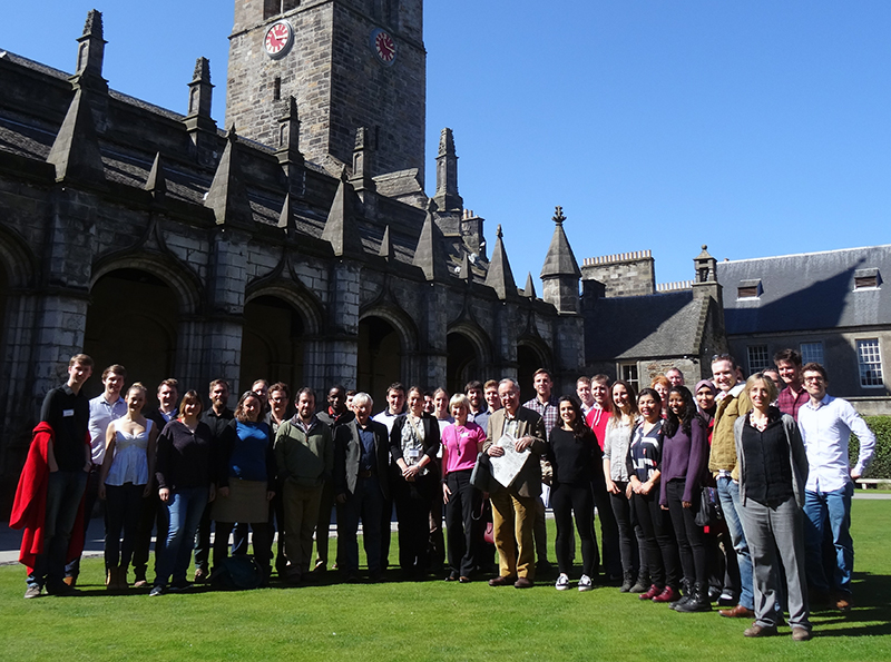 The SoS RARE group gathered in St Andrews. Copyright Frances Wall.
