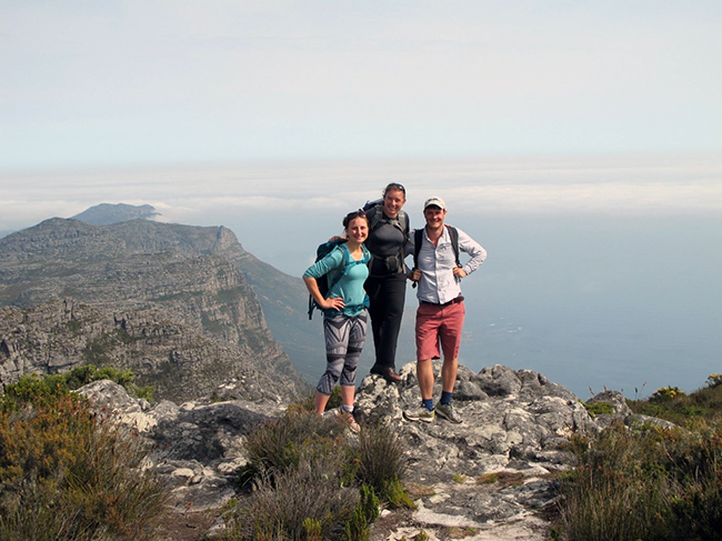 SoS RARE team at the top of Table Mountain. Photo Copyright Kathryn Goodenough