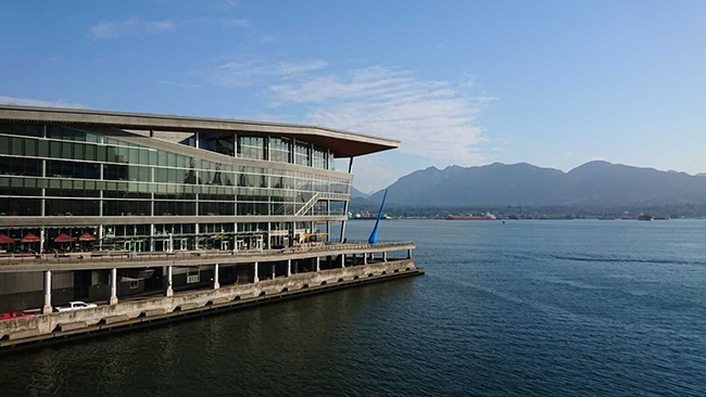 The Vancouver Convention Centre where RFG2018 was held. Photo copyright: Kathryn Goodenough.