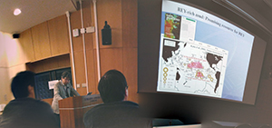 Yasuhiro Kato presents an update on rare earth rich muds in the Pacific. Copyright Frances Wall.