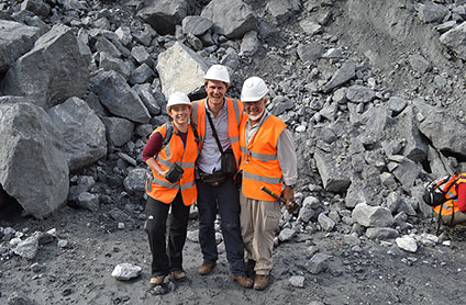 Members of the SoS RARE team in the Khibiny mine, Russia.
